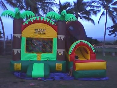 Tropical Combo Bouncer - No Kai Oi Bouncers Maui