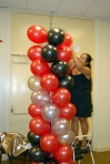 Making a balloon column, balloon decorations