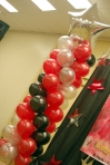 Balloon Column with Silver Star - Balloon Decorations