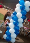 0931 Balloon Column Decoration - Balloon Arch