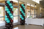 Wedding Front Entrance Balloon Column 0885