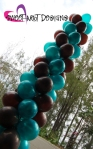 balloon column chocolate & teal theme 0115