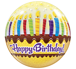 "22"" Happy Birthday Cake Bubble Balloon"