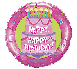 "31"" Happy Birthday Cake. Bubble Balloon"