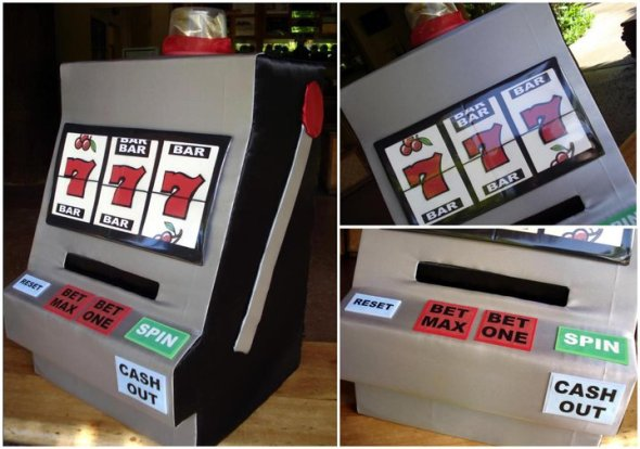 Slot Machine Money Card Box (Graduation Party)