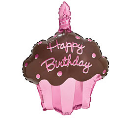 "27"" Cupcake Shape Balloon Decoration"