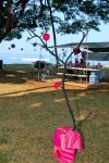 DSC_1175 Handmade Tree Decoration w/Pink Flowers and accents