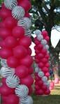 DSC_1256 Zebra Print & Magenta Balloons Decoration - Columns Beach