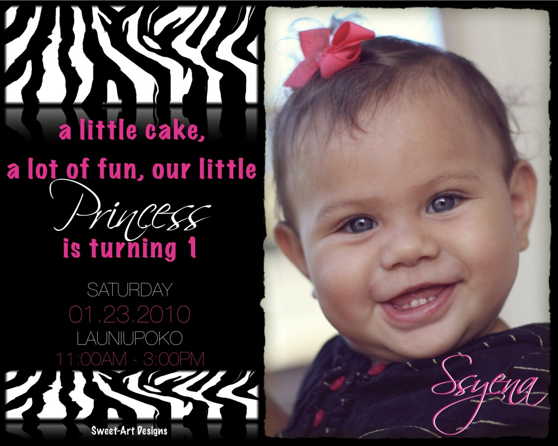 Zebra Princess Party | Sweet-Art Designs... Creative ideas from ...
