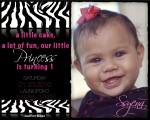 Ssyena Zebra Print Invitation