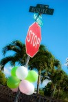 Birthday Party Balloons on Street Sign SDSC_1609-1