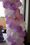 Tinkerbell, Balloons & Butterflies Cake Table Decor