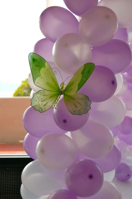 brookie u2019s tinkerbell birthday  balloon decorations