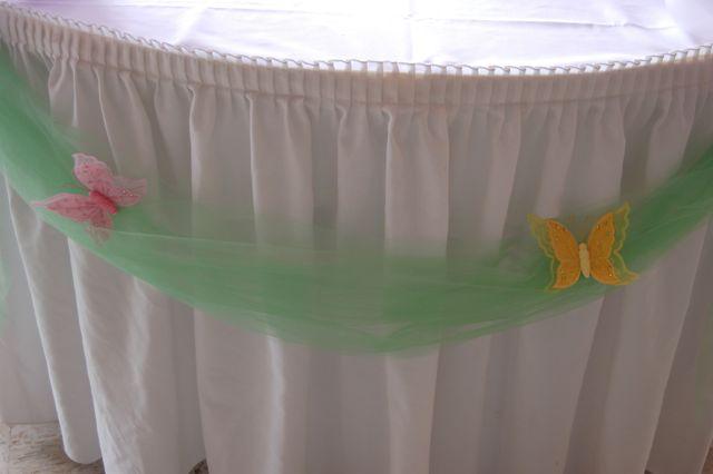 DSC 0063 Tinkerbell Balloons Butterflies Cake Table Decor