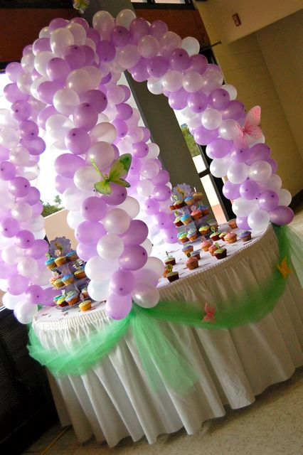 Dsc 0127 cake table balloon decoration sweet art designs for Balloon cake decoration