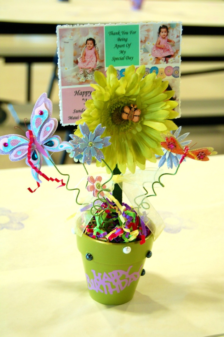 Jordyn rhys flower birthday centerpiece dsc sweet