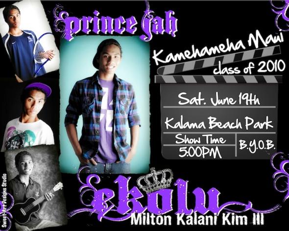 Graduation Invitation - Kamehameha Maui Graduate 2010
