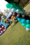 Ocean Color Balloon Columns - Sweet-Art Designs