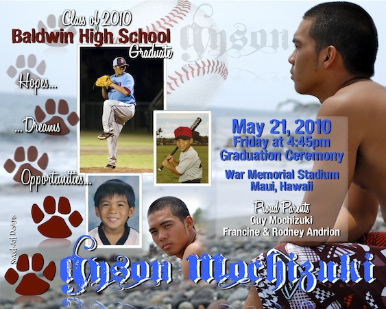 BHS Graduation Announcement - Maui 2010