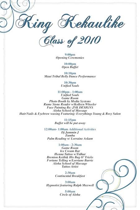 King Kekaulike 2010 Project Graduation