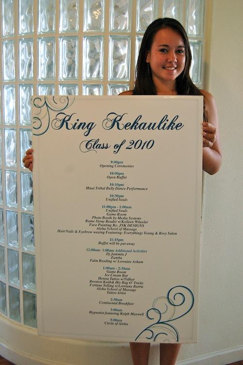 King Kekaulike Project Grad Board 2010