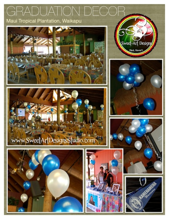 Kamehameha Schools Graduation Decor - Sweet-Art Designs Maui