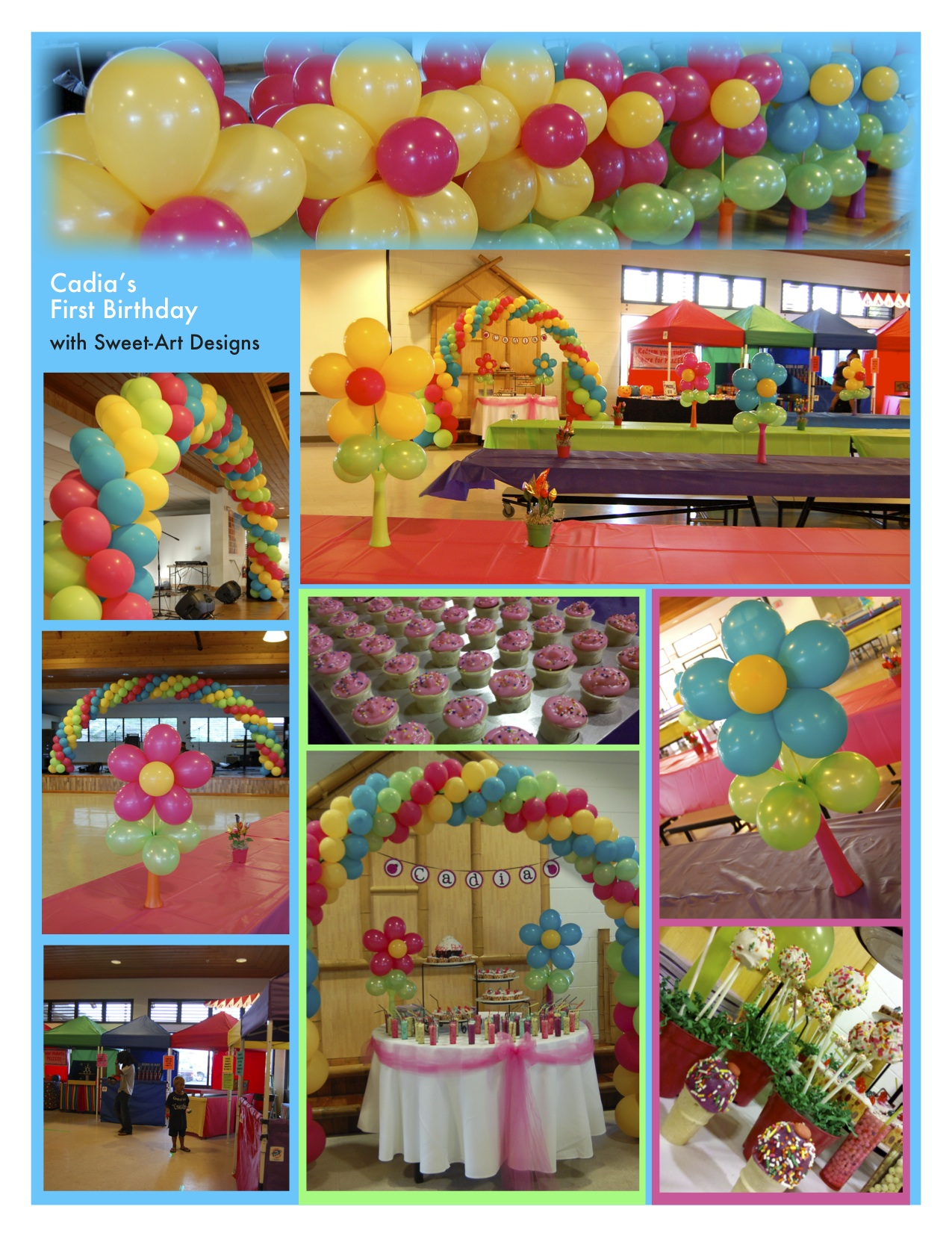 Decorations sweet art designs creative ideas from the for Balloon decoration for 1st birthday party