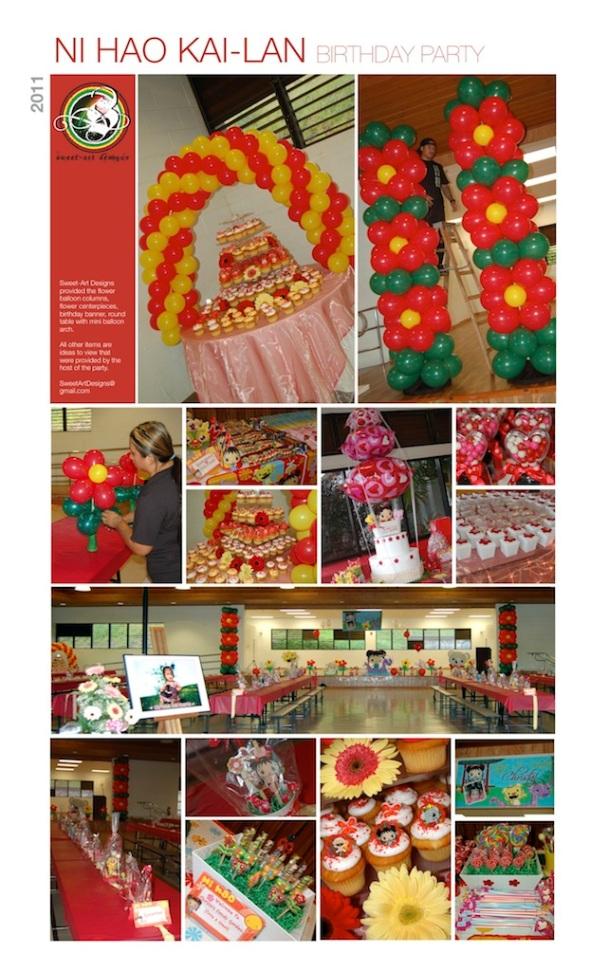 Ni Hao Kai-Lan Birthday Balloons Sweet-Art Designs Maui