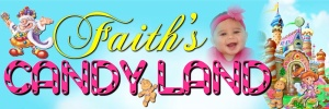 Sample 2ft x 6ft Banner - Candyland Entrance