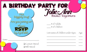 Sample 3 x 5 RSVP Mickey Clubhouse - Jolie
