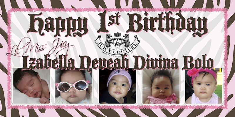 Baby First Birthday Banner Sweet Art Designs Creative Ideas