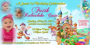 Sample 4in x 8in Candyland Invitation Faith