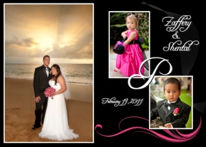 Sample 5 x 7 Wedding Thank You - Shen