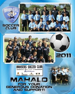 Sample 6 x 7.5 Thank You - Bruisers Soccer