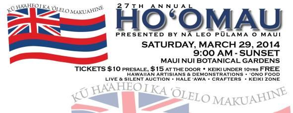 Event cover photo for Facebook Maui Hawaiian Language